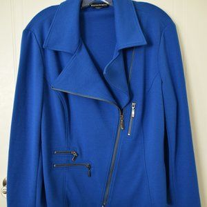 Bianca Nygard Blue Moto Jacket - Size 16